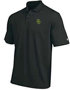 Baylor Bears Mens Black Performance Polo Shirt by Under Armour