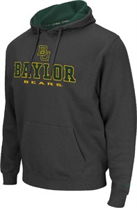 Baylor Bears Mens Charcoal Zone 2 Embroidered Hoodie