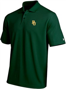 Baylor Bears Mens Green Performance Polo Shirt by Under Armour