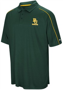 Baylor Bears Mens Green Setter Synthetic Poly Polo Shirt