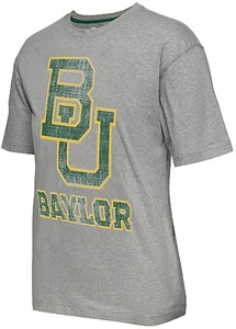 Baylor Bears Mens Grey Colossal Short Sleeve T Shirt by Colosseum
