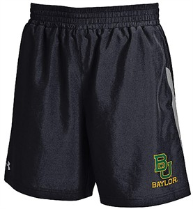 Baylor Bears Mens Under Armour Black Launch Running Shorts