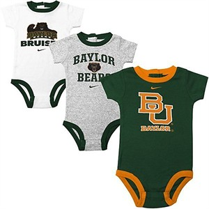 Baylor Bears Nike Infant 3-Pack Creeper Set