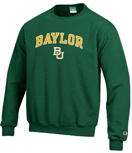 Baylor Bears Stadium Powerblend Screened Crew Sweatshirt by Champion