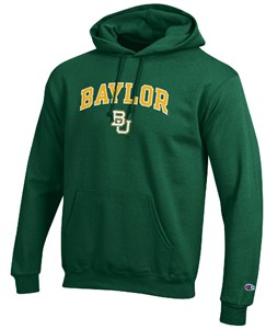 Baylor Bears Stadium Powerblend Screened Hoodie Sweatshirt by Champion