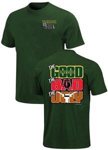 Baylor Bears The Good Bad Ugly Green Short Sleeve T Shirt