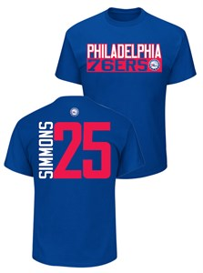 timeless design f73ec aa3b6 Ben Simmons Philadelphia 76ers Mens Blue Vertical Short ...