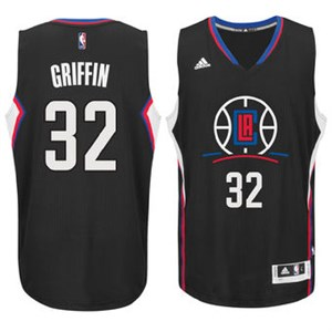 Blake Griffin Youth Los Angeles Clippers Black Replica Basketball Jersey