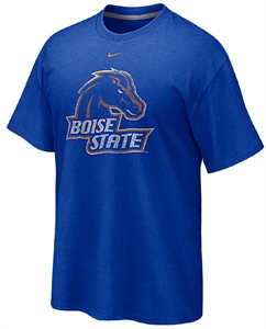 Boise State Broncos Distressed Logo T Shirt by Nike On Sale