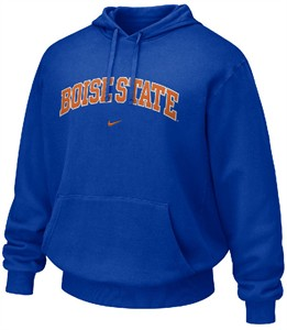 Boise State Broncos Blue NCAA Embroidered Hooded Sweatshirt By Nike Team Sports