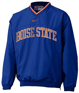 Boise State Broncos V-Neck College Windshirt By Nike Team Sports