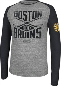 Boston Bruins Mens CCM Daily Special  Triblend Long Sleeve Shirt