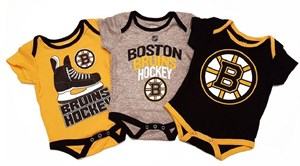 Boston Bruins Infant Hat Trick3 Pack Creeper Bodysuit Set