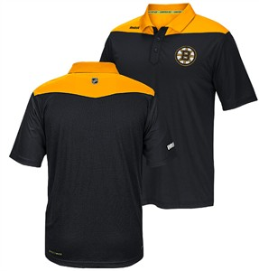 Boston Bruins Reebok Black Statement Synthetic Polo Shirt  ed3b58fda