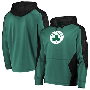 Boston Celtics Green Armor 5 Majestic Polyester Hoodie Sweatshirt