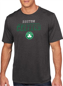 Boston Celtics Mens Charcoal Elite Polyester T Shirt
