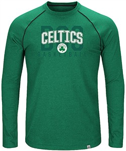 Boston Celtics Mens Hitting The Mark Long Sleeve Raglan T Shirt