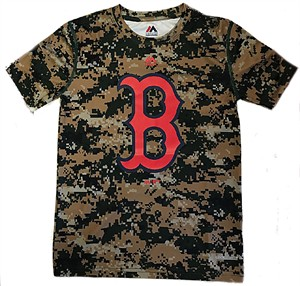 a373a50e3 Boston Red Sox Youth Digi Camo Wordmark Synthetic T Shirt by Majestic