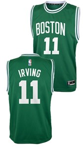 pretty nice 86978 e5f54 Boys Irving Boston Celtics Green Replica Basketball Jersey by ...