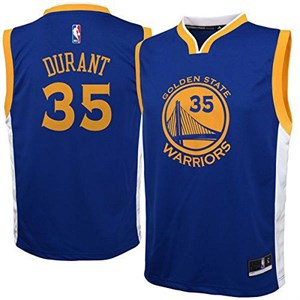 Boys Kevin Durant Golden State Warriors Replica Basketball Jersey