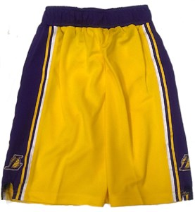 Boys Los Angeles Lakers Gold New Replica Basketball Shorts on Sale