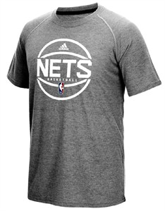 Brooklyn Nets Adidas Slim-Fit Grey Pre-Game Ultimate Performance Short Sleeve T Shirt on Sale