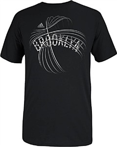 Brooklyn Nets Black NBA Basketball Short Sleeve T Shirt by Adidas
