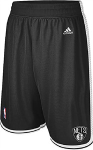 "Brooklyn Nets Youth 8"" Inseam Black NBA Replica Basketball Shorts By Adidas on Sale"
