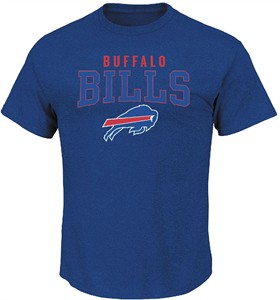 Buffalo Bills Majestic Stadium Blue Red Zone Opportunity Tee Shirt