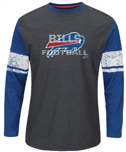 Buffalo Bills Mens Down To The Wire Long Sleeve Thermal Shirt by Majestic