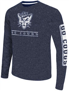 BYU Cougars Men's Blue Sky Box College Long Sleeve T Shirt