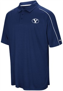 BYU Cougars Mens Blue Setter Synthetic Poly Polo Shirt