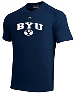 BYU Cougars Navy Poly Dry HeatGear NuTech Short Sleeve Shirt by Under Armour