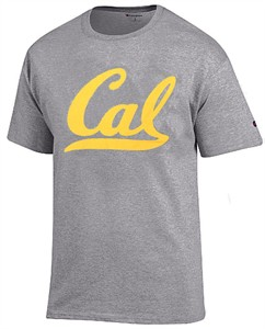 Cal Golden Bears Grey Champion School Logo Short Sleeve Tee Shirt