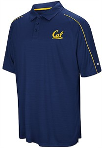 Cal Golden Bears Mens Blue Touchback Polyester Polo Shirt on Sale