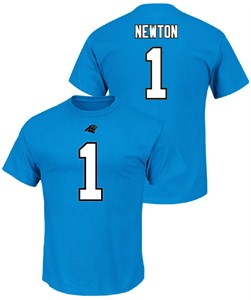 Cam Newton Carolina Panthers Eligible Receiver 3 Tee Shirt by Majestic