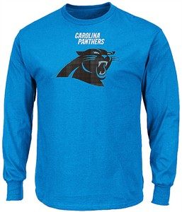 Carolina Panthers Adult Blue Critical Victory 2 Majestic Long Sleeve T Shirt