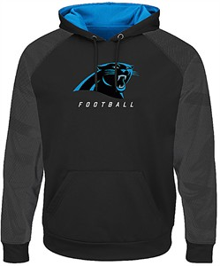 Wholesale Carolina Panthers Black Armor 3 Pullover Synthetic Majestic Hoodie