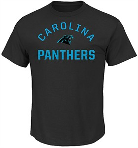 Carolina Panthers Mens Black For All Time Short Sleeve T Shirt