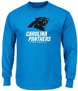 Carolina Panthers Mens Electric Blue Critical Victory 3 Long Sleeve T Shirt