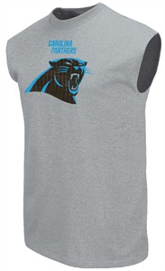 Carolina Panthers Steel Heather Critical Victory 2 Sleeveless T Shirt by Majestic