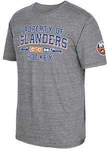 CCM New York Islanders Grey Mens Property Block Short Sleeve T Shirt