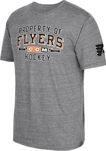 timeless design 5f5e6 75800 CCM Philadelphia Flyers Grey Mens Property Block Short Sleeve T Shirt   Philadelphia  Flyers