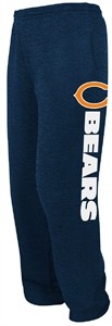 Chicago Bears Navy Critical Victory VIII Open Bottom Sweatpants by Majestic