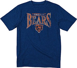 Chicago Bears Navy Heather Nostalgic Throwback T Shirt by Reebok ... ebc75b6a6