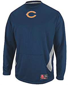 Chicago Bears Poly Performance Crew Top by Majestic