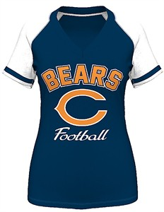 Chicago Bears Womens Go For It 4 V Neck Shirt by VF