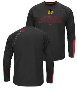 Chicago Blackhawks Cutting Through Long Sleeve Synthetic Tee Shirt