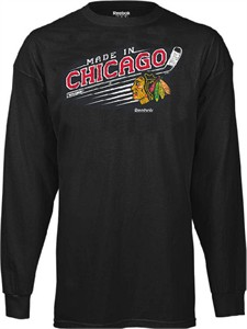 Chicago Blackhawks Made from Scratch Long Sleeve Tee Shirt by Reebok