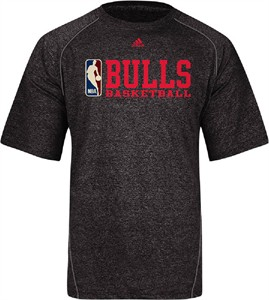 Chicago Bulls Climalite Stacked High Performance Tee Shirt by Adidas